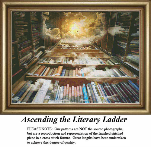 Fantasy Surreal Cross Stitch Patterns | Ascending the Literary Ladder