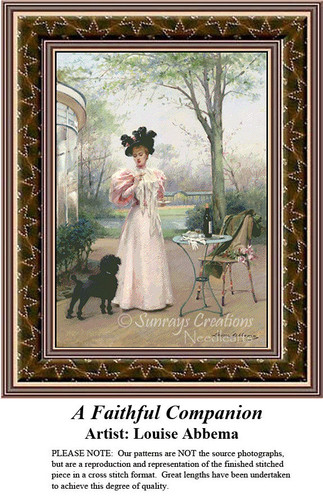 Fine Art Cross Stitch Patterns | A Faithful Companion