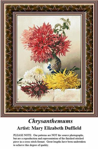 Fine Art Cross Stitch Patterns | Chrysanthemums