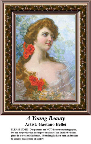 Fine Art Cross Stitch Patterns | A Young Beauty