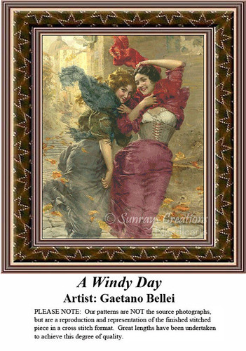 Fine Art Cross Stitch Patterns | A Windy Day