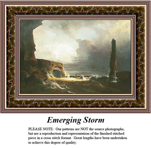 Landscapes Cross Stitch Patterns | Emerging Storm