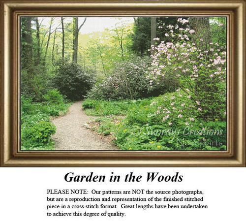 Landscape Cross Stitch Pattern | Garden in the Woods