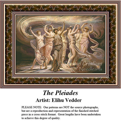 Fine Art Counted Cross Stitch Patterns   The Pleiades