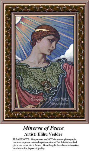 Fine Art Counted Cross Stitch Patterns | Minerva of Peace