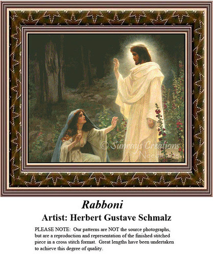 Fine Art Counted Cross Stitch Patterns | Rabboni