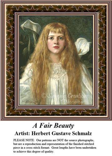 Fine Art Counted Cross Stitch Patterns | A Fair Beauty