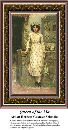 Fine Art Counted Cross Stitch Patterns | Queen of the May