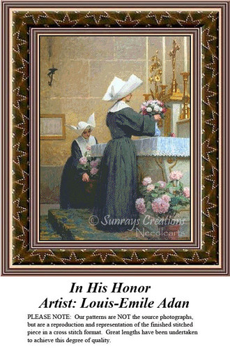 Fine Art Counted Cross Stitch Patterns | In His Honor