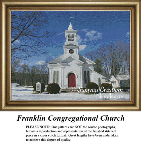 New England States Cross Stitch Patterns | Franklin Congregational Church