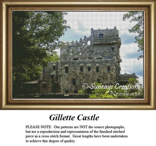 New England States Cross Stitch Patterns | Gillette Castle