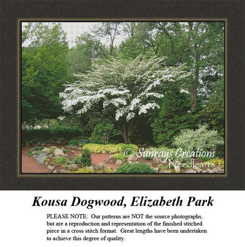 New England States Cross Stitch Patterns | Kousa Dogwood, Elizabeth Park