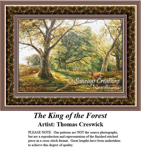Fine Art Counted Cross Stitch | The King of the Forest
