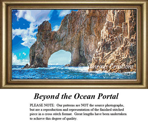 Landscape Cross Stitch Pattern   Beyond the Ocean Portal