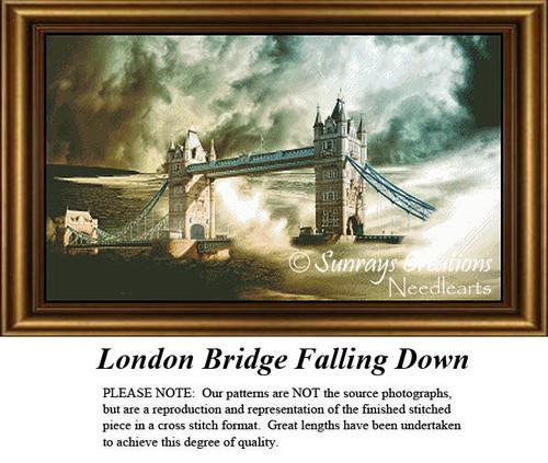 Fantasy Cross Stitch Pattern | London Bridge Falling Down