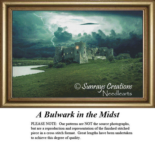 Fantasy Cross Stitch Pattern | A Bulwark in the Midst