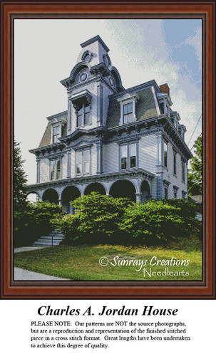 New England States Cross Stitch Patterns | Charles A. Jordan House Maine