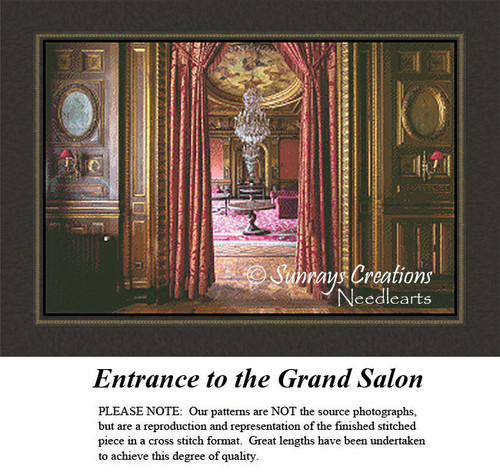 Vintage Cross Stitch Patterns | Entrance to the Grand Salon