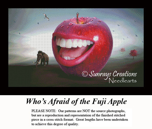 Fantasy Cross Stitch Pattern | Who's Afraid of the Fuji Apple