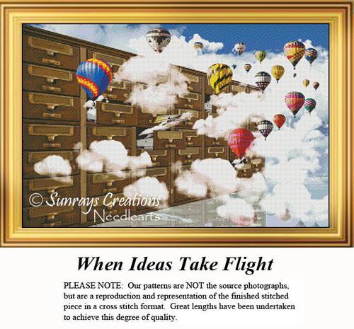 Fantasy Cross Stitch Pattern | When Ideas Take Flight