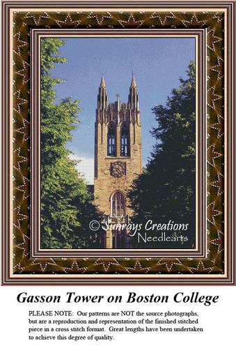 New England States Cross Stitch Patterns | Gasson Tower of Boston College