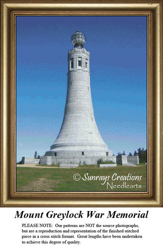 Massachusetts Cross Stitch Patterns | Mount Greylock War Memorial