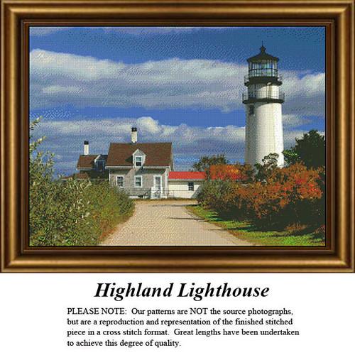 Massachusetts Cross Stitch Patterns | Highland Lighthouse