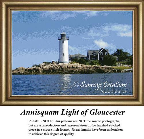 Massachusetts Cross Stitch Patterns | Annisquam Light of Gloucester