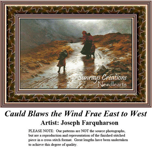 Fine Art Counted Cross Stitch Patterns | Cauld Blaws the Wind East to West