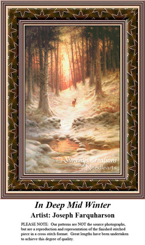 Fine Art Counted Cross Stitch Patterns | In Deep Mid Winter