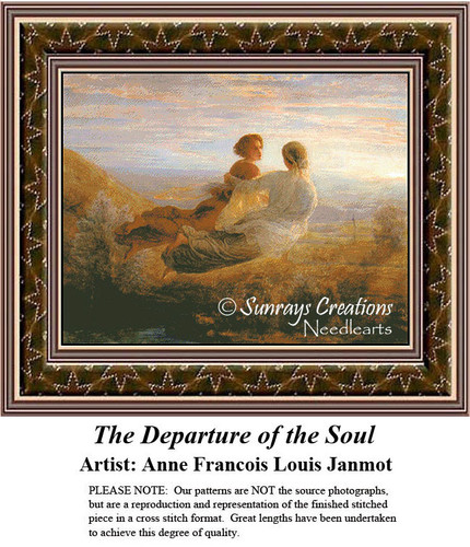 Fine Art Counted Cross Stitch Pattern | The Departure of the Soul