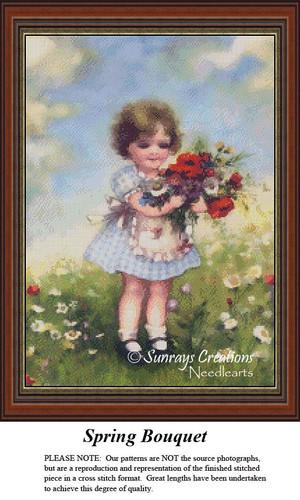Vintage Cross Stitch Patterns | Spring Bouquet