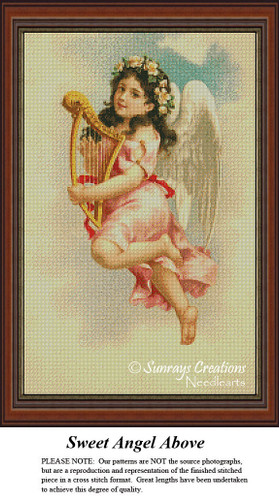 Angel Cross Stitch Patterns|Sweet Angel Above