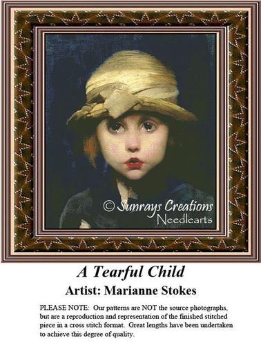 Fine Art Cross Stitch Patterns | A Tearful Child