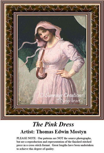 Fine Art Counted Cross Stitch Patterns | The Pink Dress