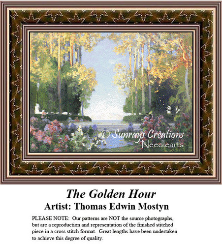 Fine Art Counted Cross Stitch Patterns | The  Golden Hour