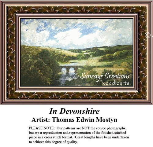 Fine Art Counted Cross Stitch Patterns | In Devonshire