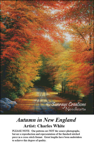 Charles White Cross Stitch Patterns | Autumn in New England