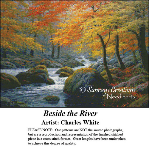 Charles White Cross Stitch Patterns   Beside the River