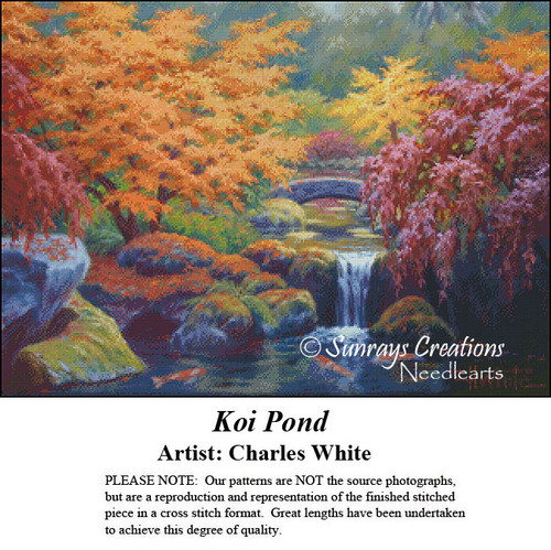 Charles White Cross Stitch Patterns   Koi Pond