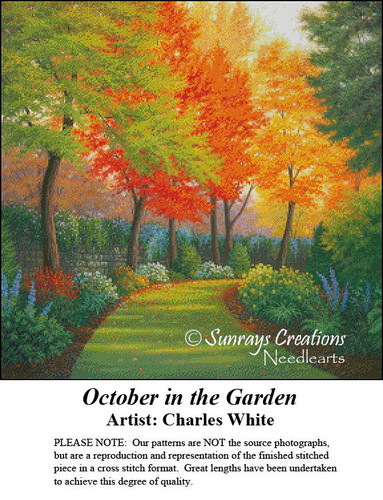 Charles White Cross Stitch Patterns | October in the Garden