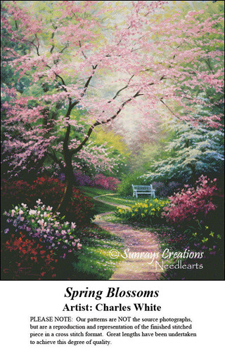 Charles White Cross Stitch Patterns | Spring Blossoms