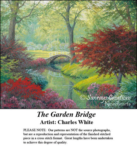 Charles White Cross Stitch Patterns | The Garden Bridge