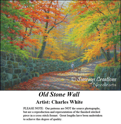 Charles White Cross Stitch Patterns | Old Stone Wall