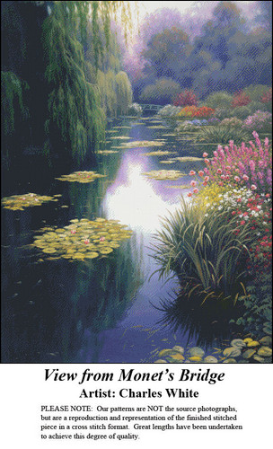 Charles White Cross Stitch Patterns | View from Monet's Bridge