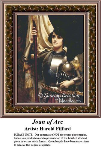 Fine Art Cross Stitch Pattern | Joan of Arc