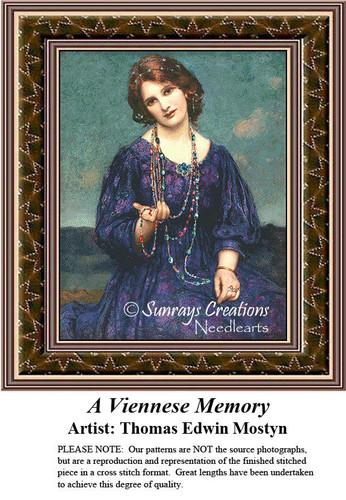 Fine Art Cross Stitch Pattern | A Viennese Memory