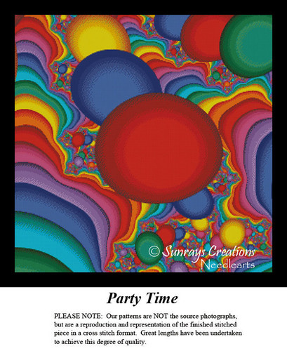 Fractal Cross Stitch Pattern | Party Time