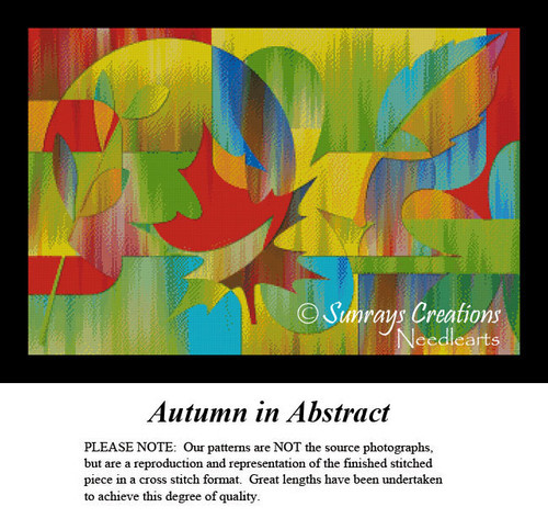 Fractal Cross Stitch Pattern   Autumn in Abstract