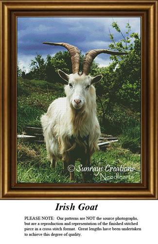 Irish Cross Stitch Pattern | Irish Goat